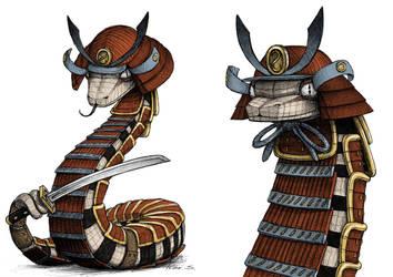 Samurai snake by IsidorSwande