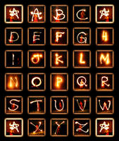 Fire Alphabet by MD-Arts