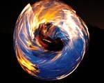 Blue Fire Wheel