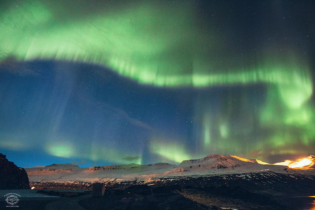 northern lights in iceland by md arts on deviantart