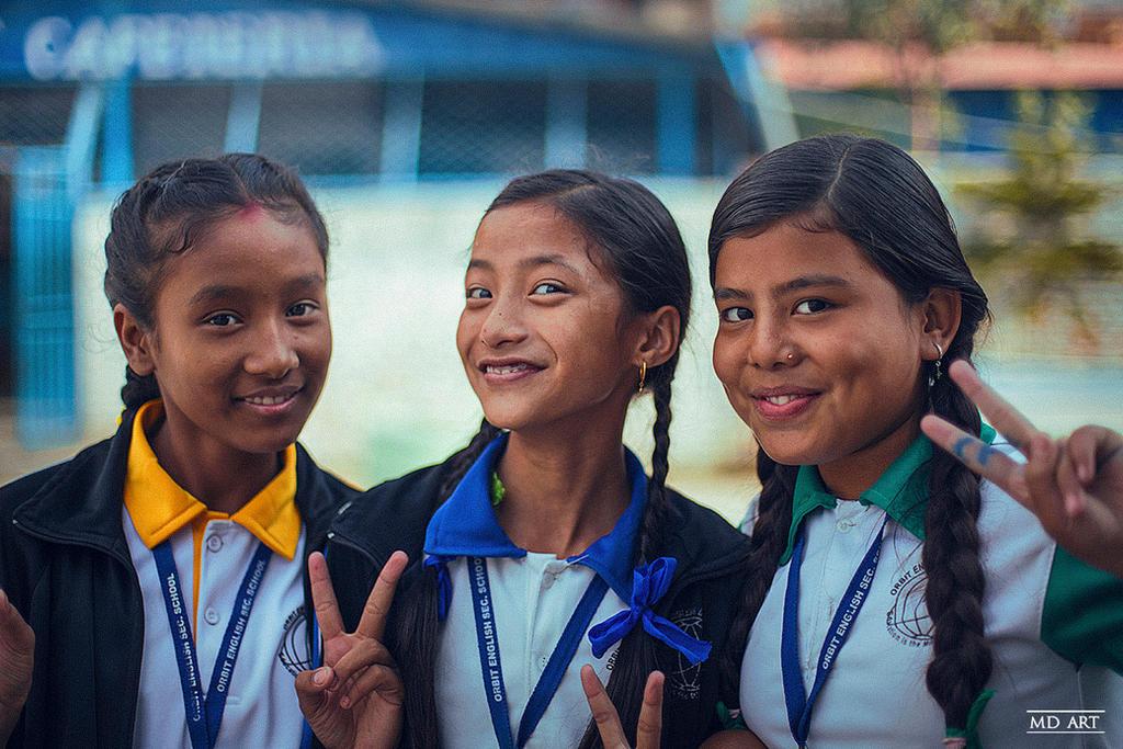 Nepalese Schoolgirls by MD-Arts