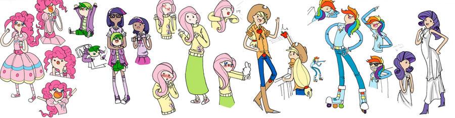 Adventure Ponies: doodles 5 by sydsydguv259