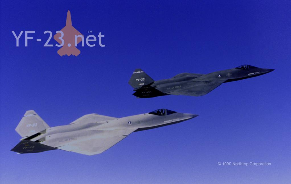 Northrop YF-23 PAV-1 and PAV-2 by supacruze