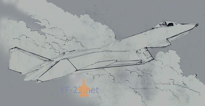 Northrop F-23 advanced concept by supacruze
