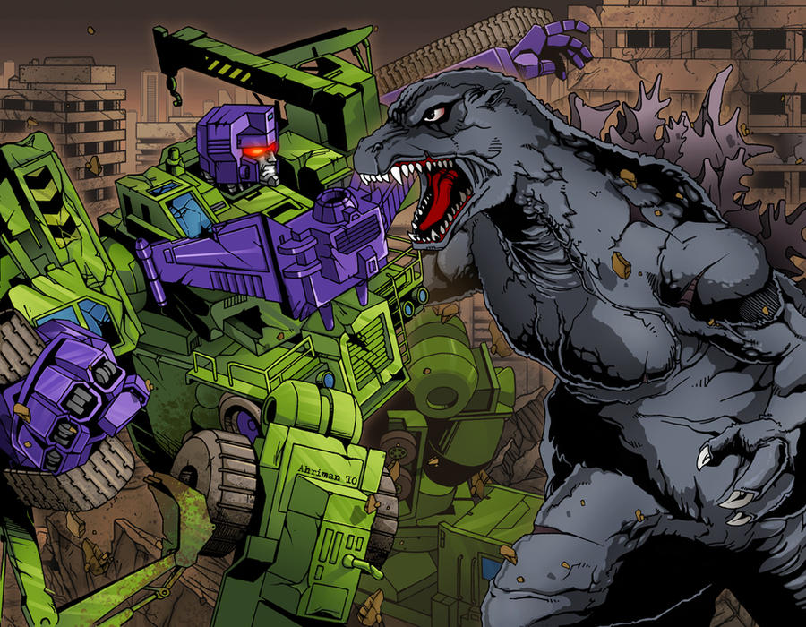 Godzilla vs Devastator by Ahrrr