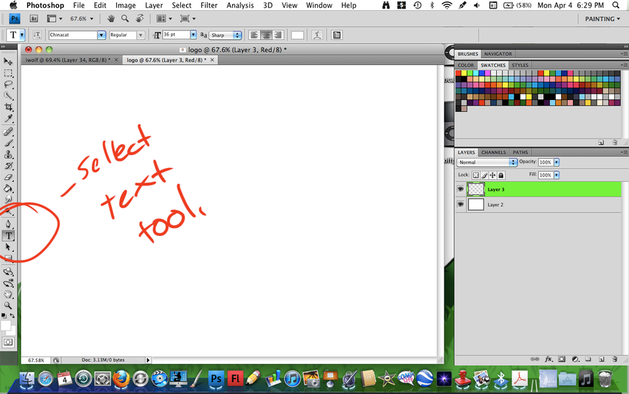 how to use text tool photo shop