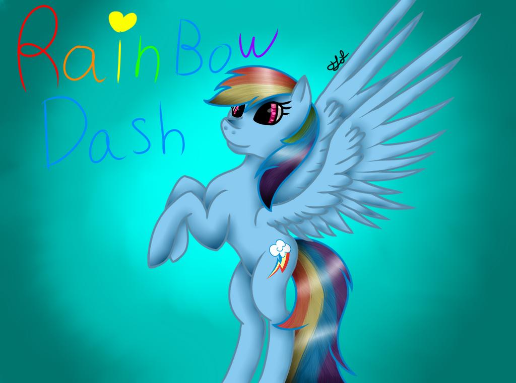 Rainbow Dash by MidNightFlyer53