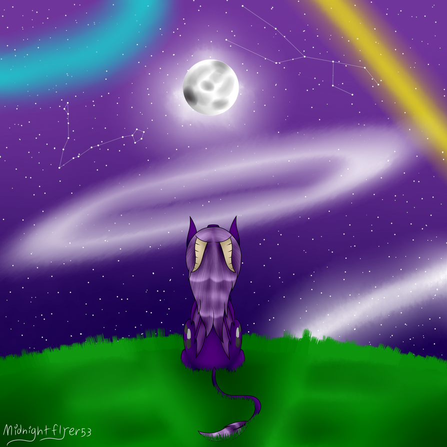 Looking Up To The Moon by MidNightFlyer53