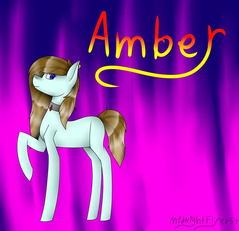 Amber + Speedpaint by MidNightFlyer53