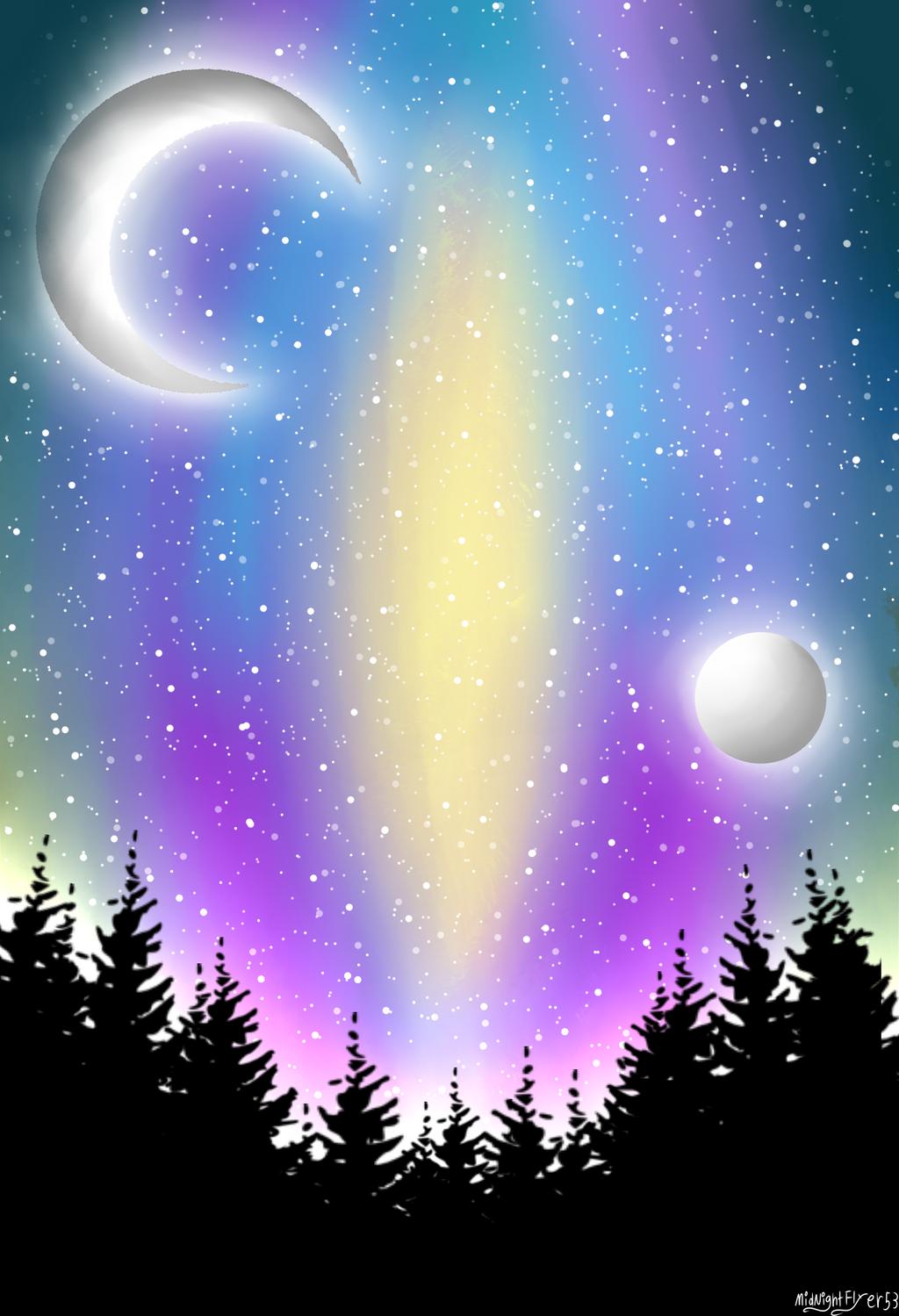 Galaxy Background by MidNightFlyer53