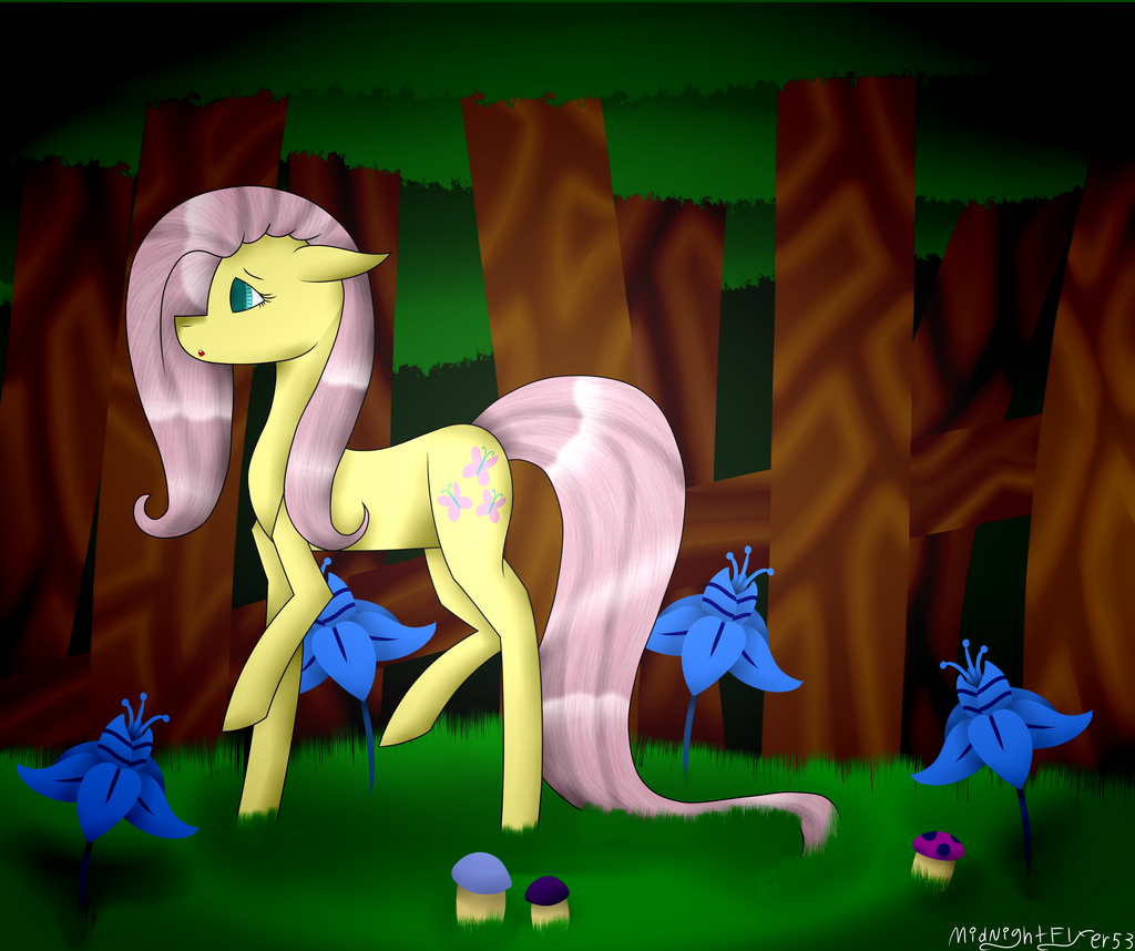 Fluttershy Commission by MidNightFlyer53