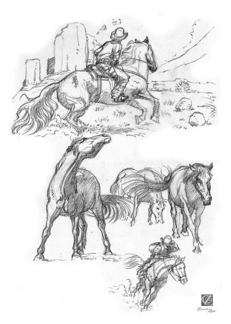 horse study by chclaudino