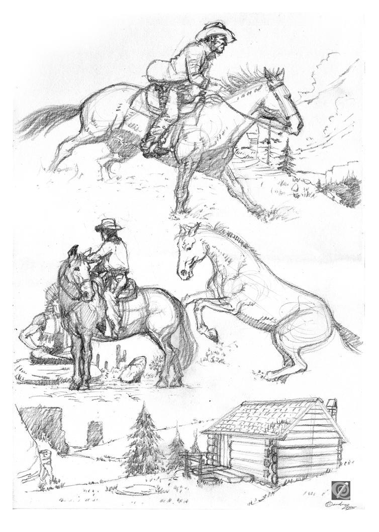 horse study 002 by chclaudino
