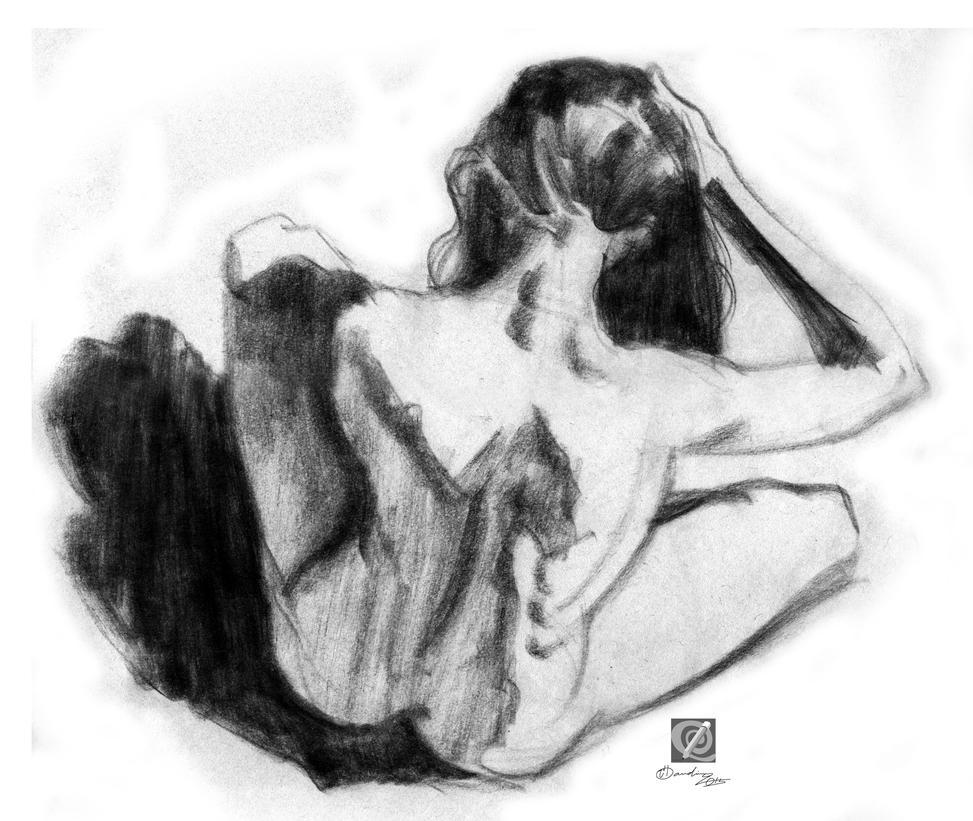 charcoal study 016 by chclaudino