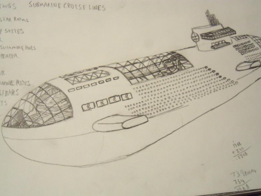 Drawings Submarine Cruise Ship By SmegmaDObliterator On DeviantArt - Cruise ship drawings