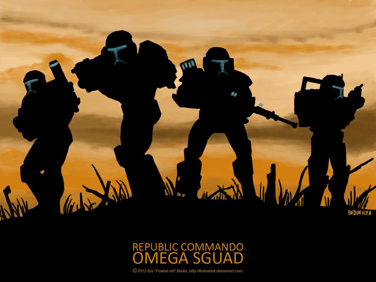 Star Wars Republic Commando Omega Sguad by FoxbatMit