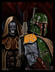 Star Wars Boba Fett and Nom Anor by FoxbatMit