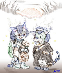 Too Old for Trick or Treating? -Art Trade- by Koopus