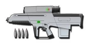 Gyrojet Grenade rifle