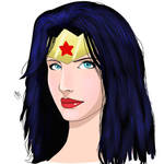 Wonder Woman face sketch