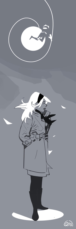 Gwen warm up.