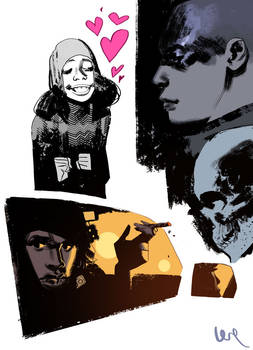 Sketches trying out some new brushes.