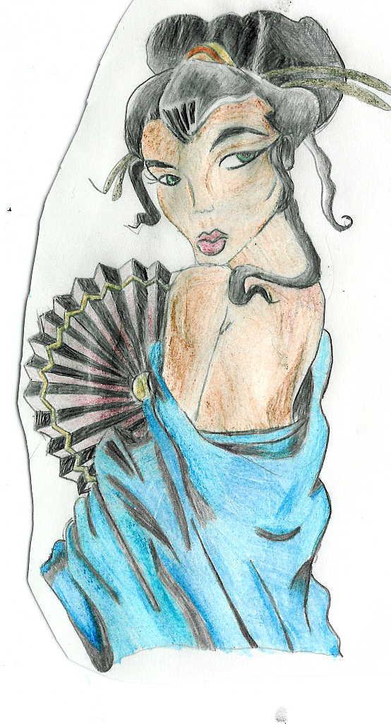 Japanese Geisha Tattoo Designs Gallery 12
