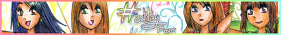 Hashtag Four manga affiliate banner by Rossally