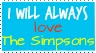 I will love the Simpsons: Stamp by Sapphire-Asters
