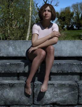 Lynette on the ledge