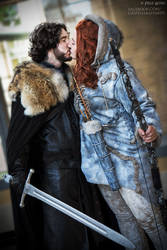 Jon Snow and Ygritte Game of Thrones Cosplay by 3direwolfmoon