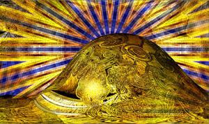 CAOMouse golden bump mural