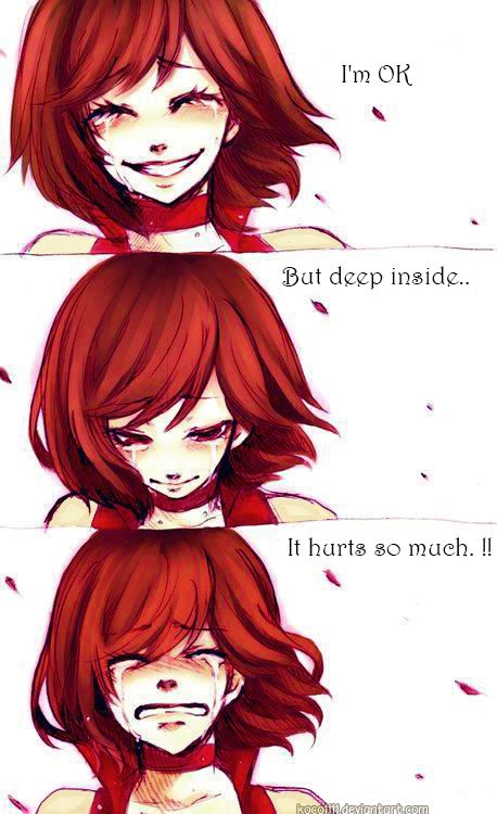 I'm OK. but deep inside.. it hurts so much by koco1111