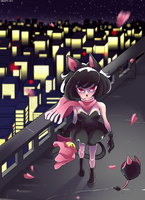 Tokyo Black Cat Girl by Catsupy