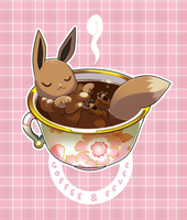 Eevee And Coffee: Covfefe?! by Catsupy