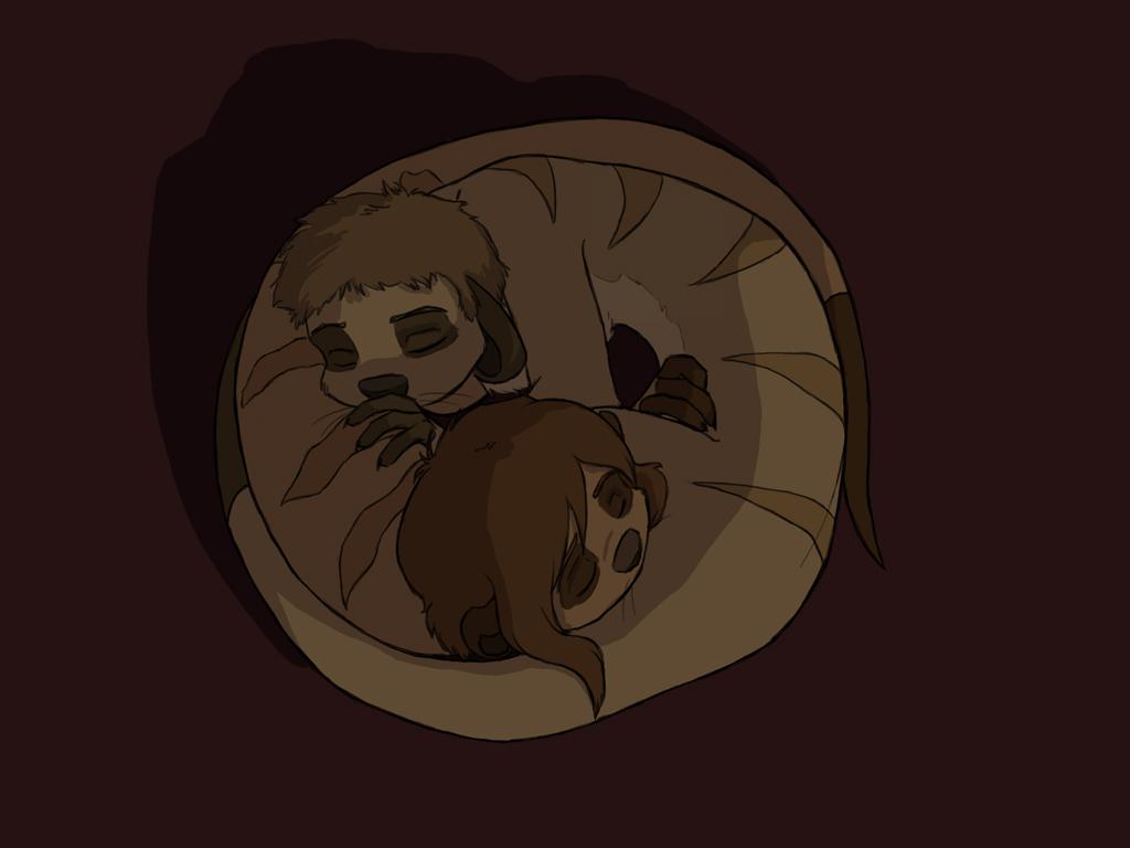 Sleepy Meerkats by In-Tays-Head