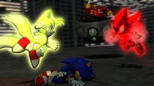 Super Tails vs. Super Chaos Shadow