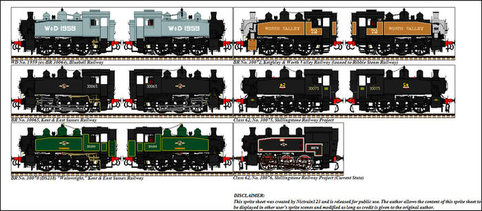 Sprites of Preserved SR USA Class 0-6-0T's by Nictrain123