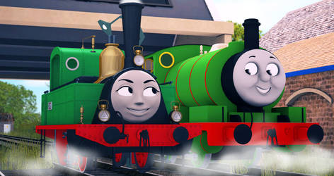 Two Little Green Shunters