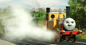 'They felt the drag of the heavy coaches here...'