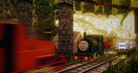'Peter Sam shut his eyes...'