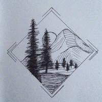 Moonlit Mountain by larrykins14