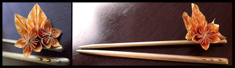 Golden Summer hair sticks