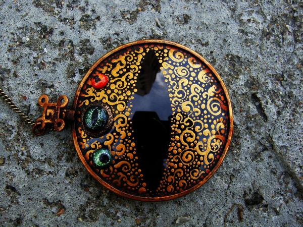 Tiger eye monocle by Santani