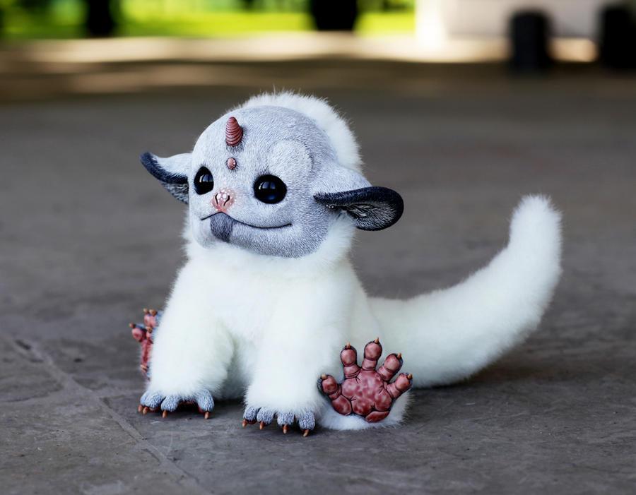 My Little Dragon: White Unicorn by Santani