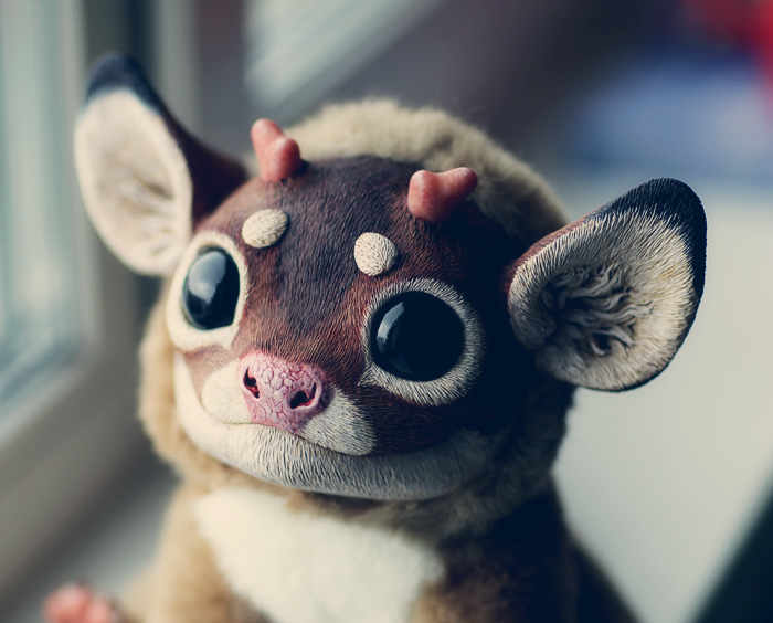 My Little Dragon: Bambi portrait by Santani