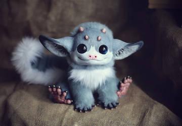 My Little Dragon: Grey Elf by Santani