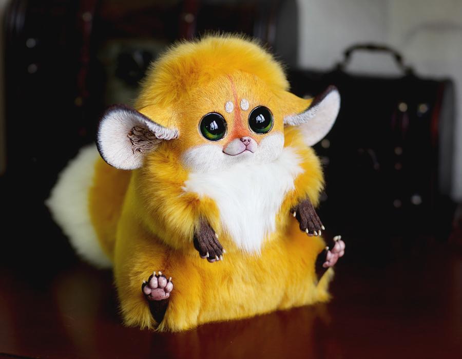 Inari Foxes: Gold by Santani