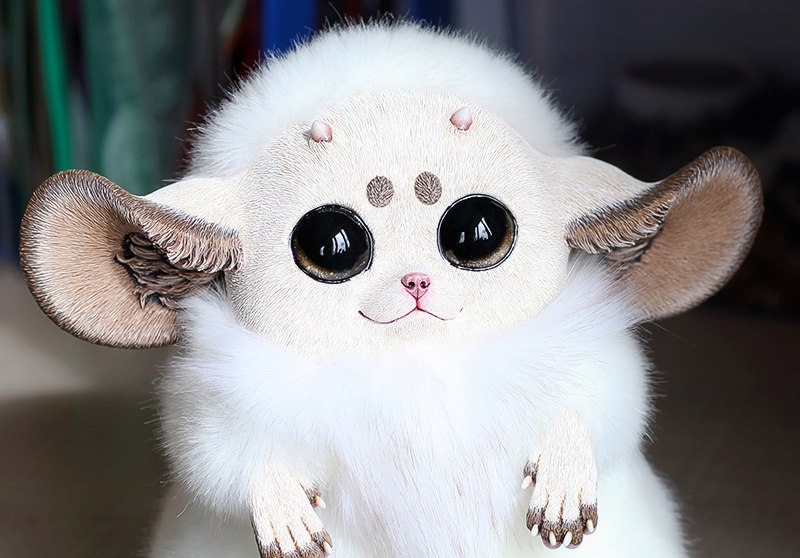 Inari Fox: White with horns by Santani on DeviantArt
