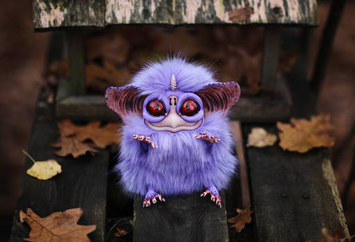 Sowl mini: Purple-blue unicorn with wings